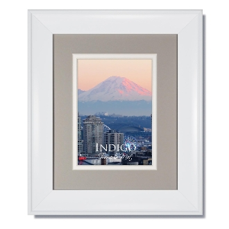 Portrait White Frame With Light Gray Over White Double Mat