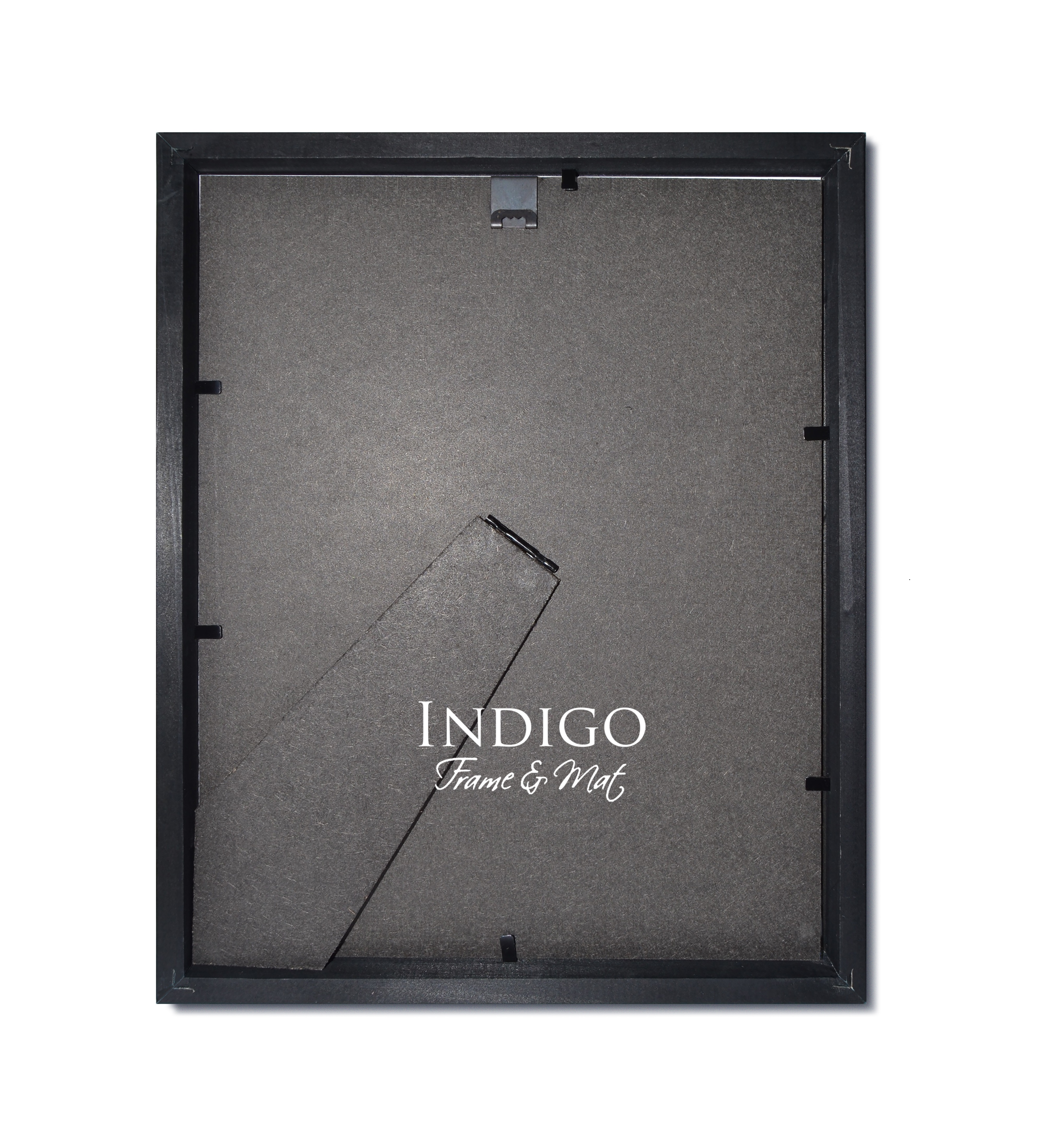 Gallery Black Wood Frame with Dark Green over Black Double Mat ...