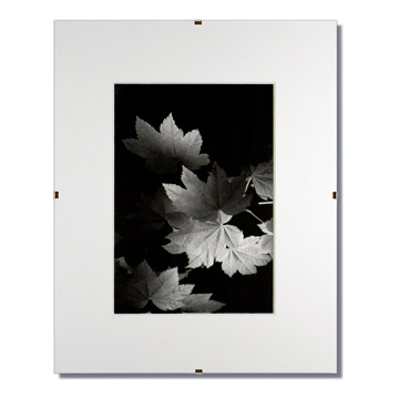 Glass Clip Frame with Single White Mat - Indigo Frame & Mat
