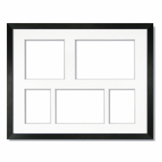 Collage Frame Gallery Black With Single White Mat