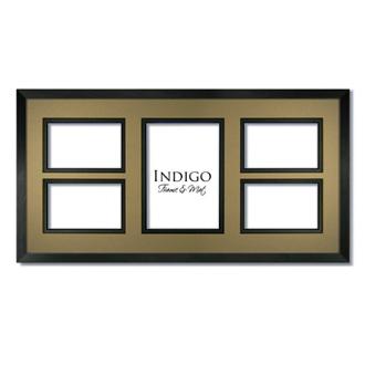 collage frame gallery black with tumbleweed black mat indigo