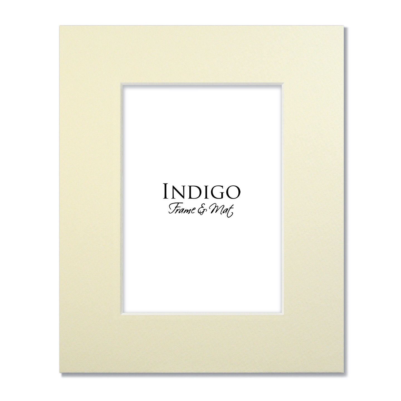 Mat Pack Ivory Single Set Of 10 Indigo Frame Amp Mat