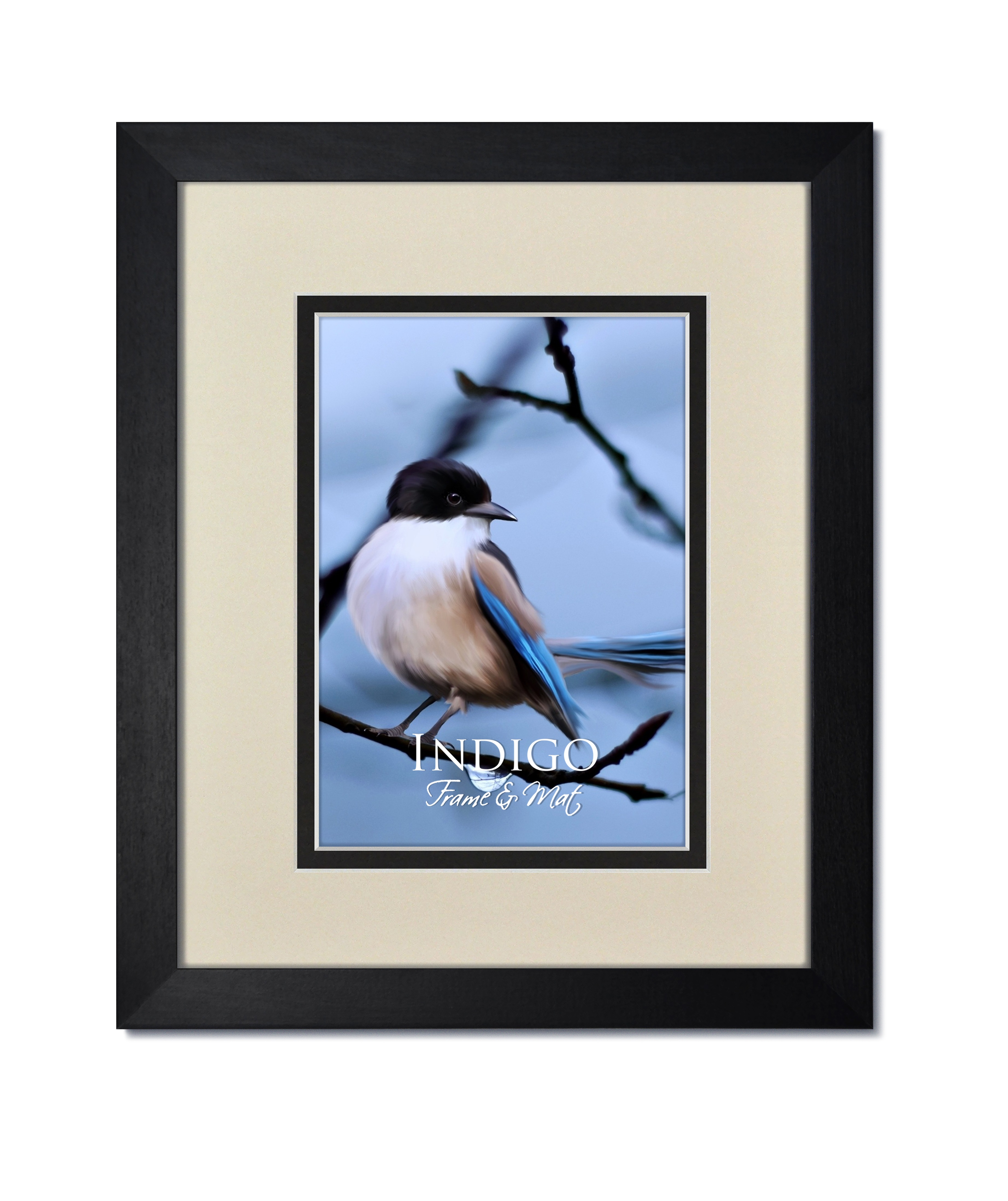 Gallery Ii Black Hardwood Frame With Soft White Over Black