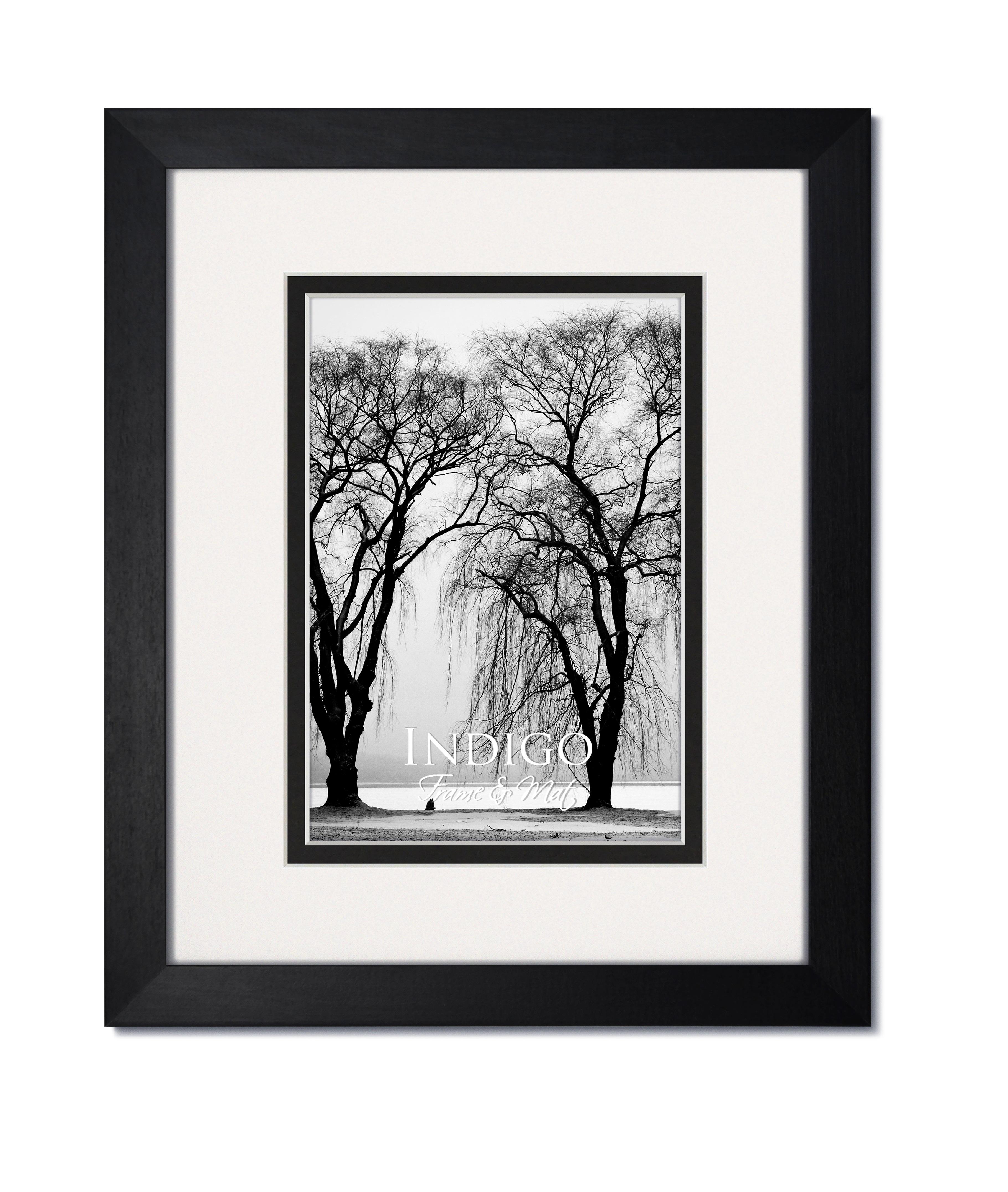 Gallery Ii Black Hardwood Frame With White Over Black Mat