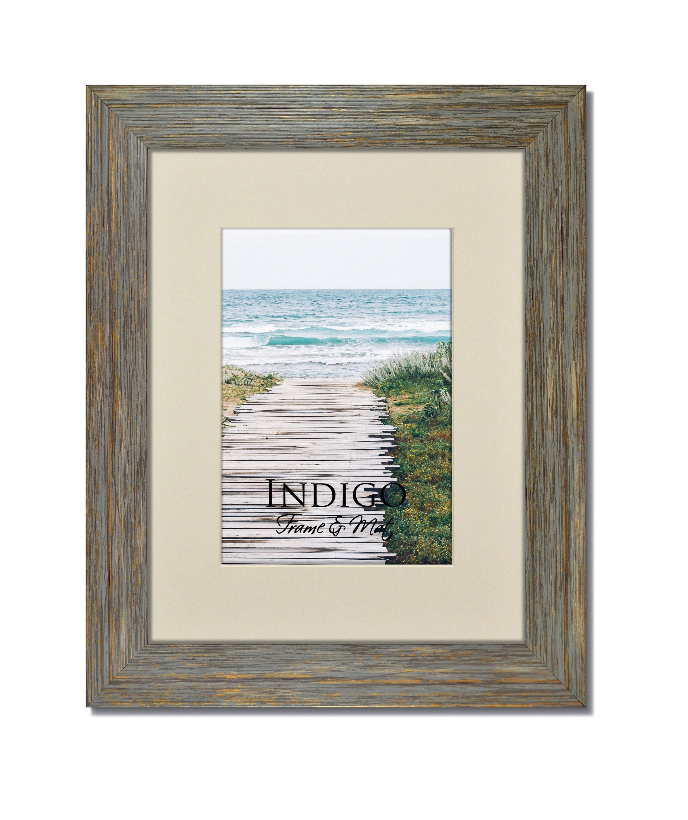 Rustic Blue Frame with Soft White Mat - Indigo Frame & Mat