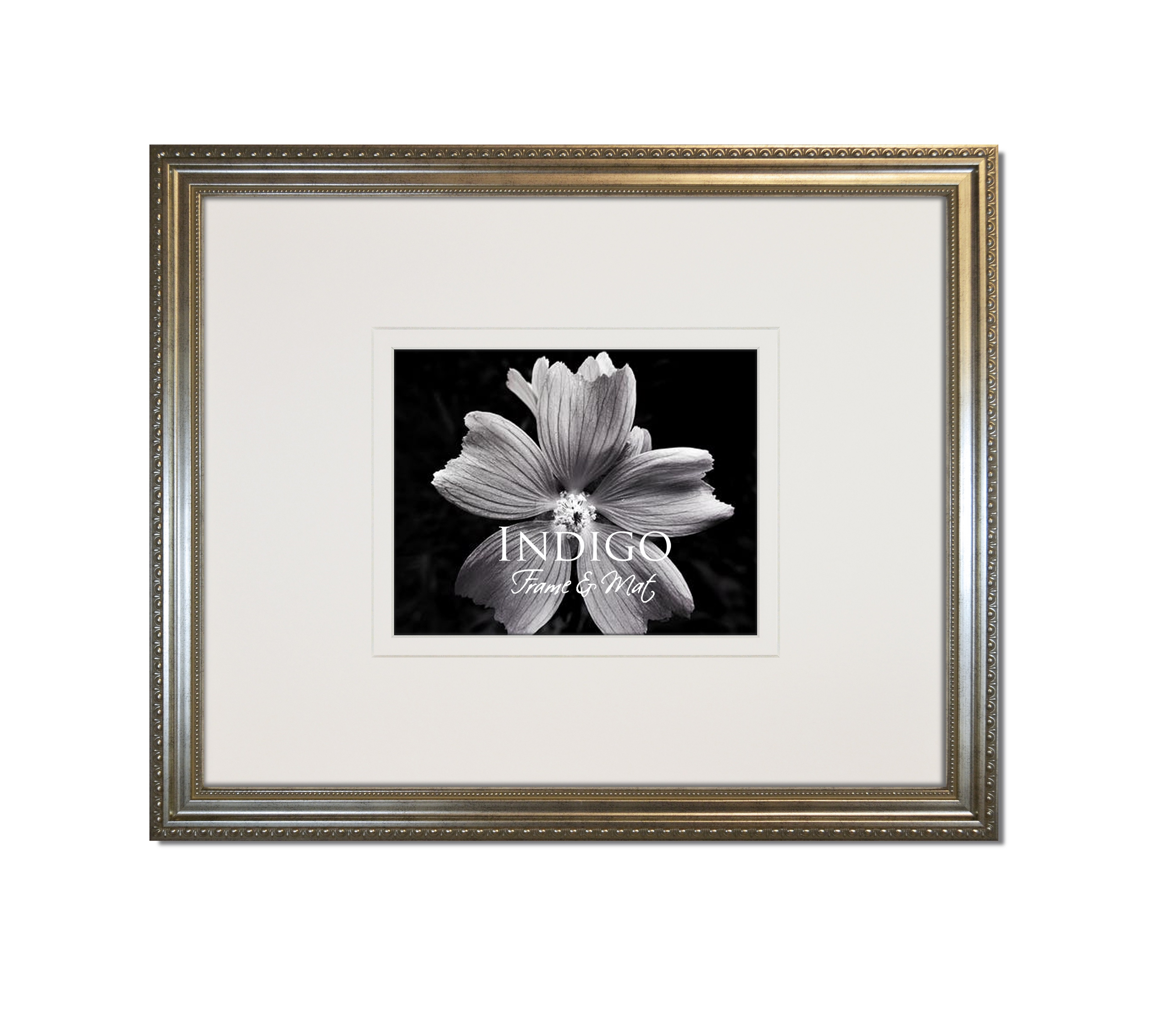 Heritage Silver Ornate Frame With White Over White Gallery